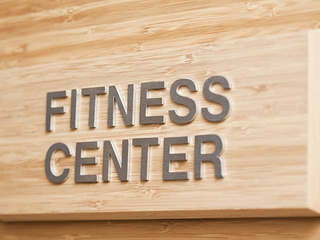 Valley Park Apartments Fitness Center sign