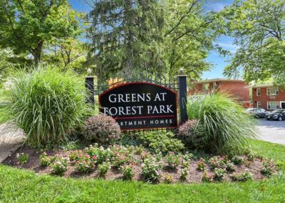 Greens at Forest Park sign