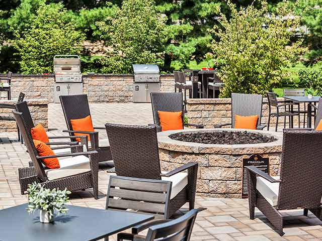 Outdoor living at Franklin Commons