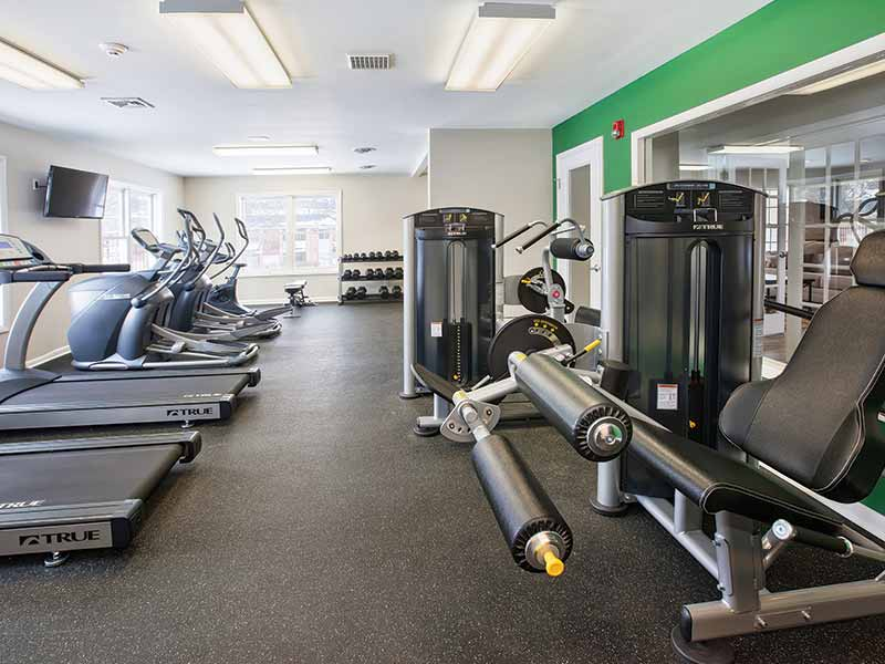Fully equipped Fitness Center at Stonebridge Apartment Complex