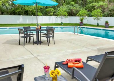 Swimming pool and sundeck at Valley Park