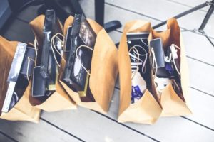 Full shopping bags from Gloucester Premium Outlets