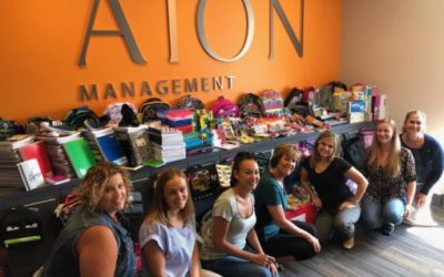September 8, 2018: AION Gives Back Completes Successful Back to School Supply Drive